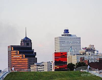Photograph - Beale Strreet Landing Memphis Downtown View by Lizi Beard-Ward