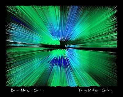 Beam Me Up Scotty Art Print by Terry Mulligan