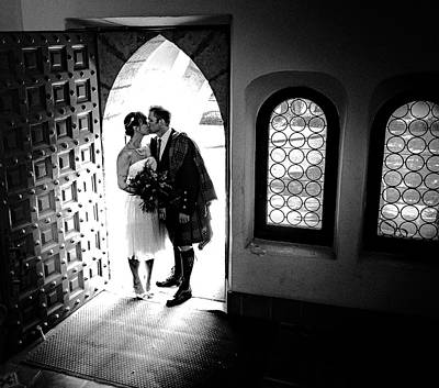 Photograph - Beaming Newlyweds by T Brian Jones