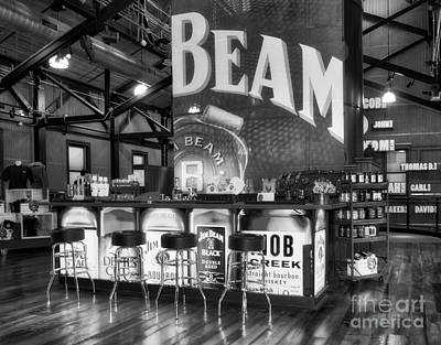Photograph - Beam's Bourbon Bar Black And White by Mel Steinhauer