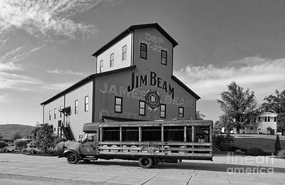 Photograph - Beam's Bourbon Showplace Black And White by Mel Steinhauer