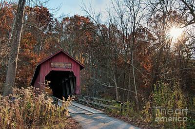 Photograph - Bean Blossom Bridge - D010235 by Daniel Dempster