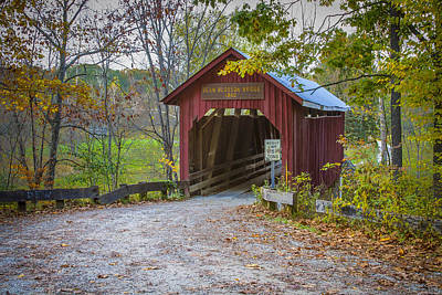 Music Royalty-Free and Rights-Managed Images - Bean Blossom covered bridge by Jack R Perry