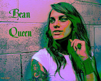 Digital Art - Bean Queen by Larry Beat