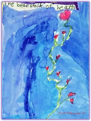 Bonding Painting - Bean Stalk Of Hearts by Dheerashree Gangane