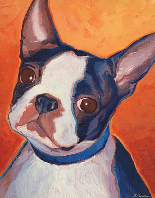 Boston Painting - Bean Town Terrier by Shawn Shea