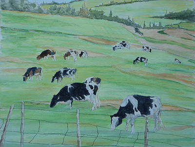 Beanie's Cows Art Print by Joel Deutsch
