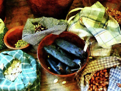 Baker Photograph - Beans And Seeds by Susan Savad