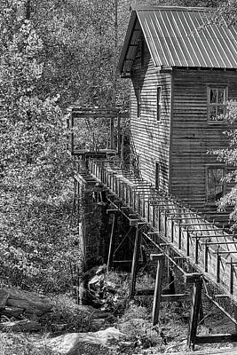 Photograph - Bean's Gristmill In Black And White by JC Findley