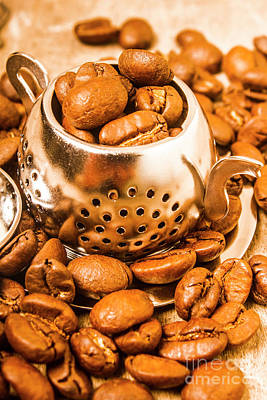 Counter Photograph - Beans The Little Teapot by Jorgo Photography - Wall Art Gallery