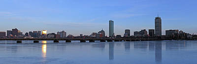 Boston Skyline Panoramic Photograph - Beantown On Ice by Juergen Roth