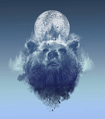 Digital Art - Bear 2 by Bekim Art