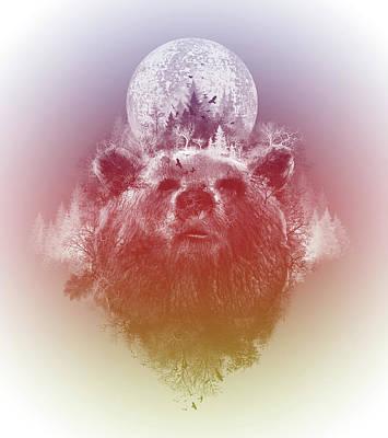 Bear Digital Art - Bear 3 by Bekim Art