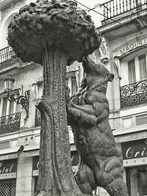 Photograph - Bear And The Strawberry Tree Statue by JAMART Photography