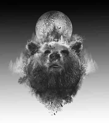 Digital Art - Bear by Bekim Art