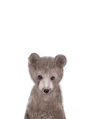 Brown Bear Painting - Bear by Bleu Bri