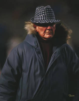 Paul Bear Bryant Painting - Bear Bryant Alabama Football Head Coach 02 by Rich image