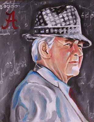 Bryant Painting - Bear Bryant by Mikayla Ziegler