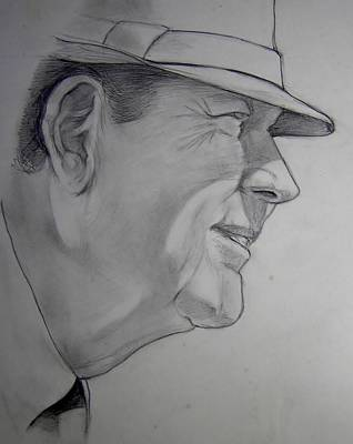Bear Bryant Art Print by Nigel Wynter