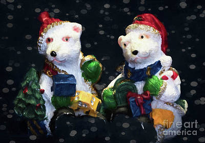 Photograph - Bear Christmas by Jean OKeeffe Macro Abundance Art