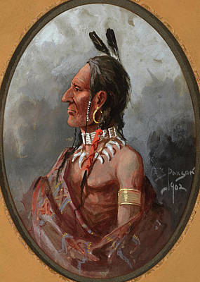 Edgar S. Paxson Painting - Bear Claw by Edgar