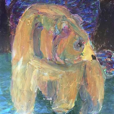 Painting -  Bear Coming Out Of The Forest by Donald J Ryker III