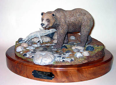 Sculpture - Bear Creek Grizzly by Carl Capps