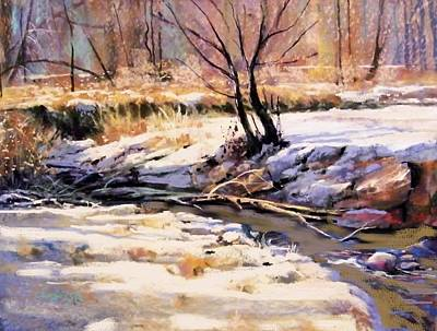 Painting - Bear Creek Winter by Joseph Barani