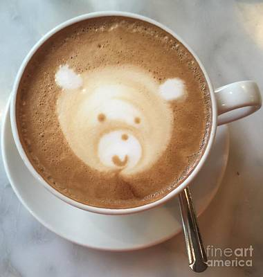 Photograph - Bear Cup Latte  by Susan Garren