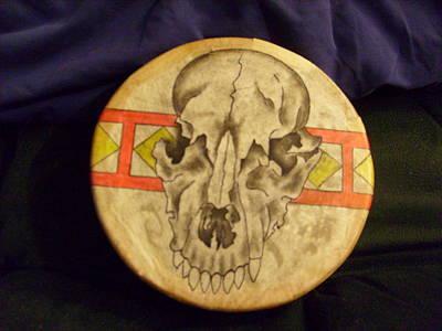 Bear Drum Art Print by Angelina Benson