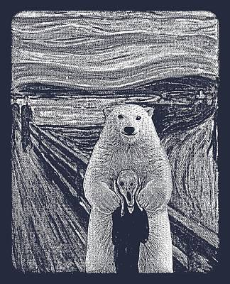 Edward Munch Digital Art - Bear Factor by Mustafa Akgul