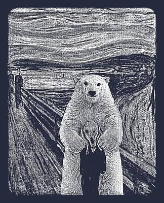 Popular Culture Drawing - Bear Factor by Mustafa Akgul