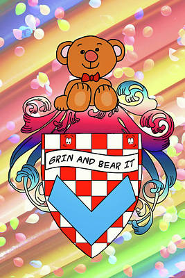 Digital Art - Bear Family Crest by John Haldane