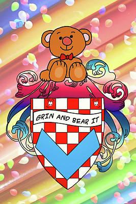 Digital Art - Bear Family Crest by John Haldane