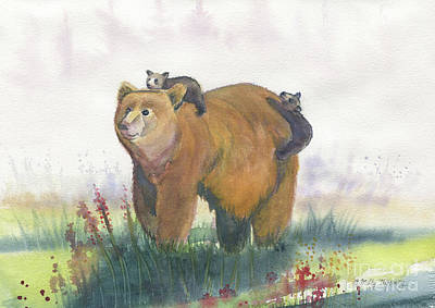 Painting - Bear Family by Melly Terpening
