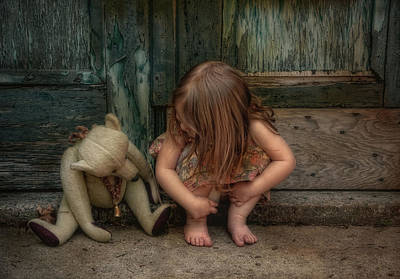 Child Photograph - Bear Feet by Robin-Lee Vieira