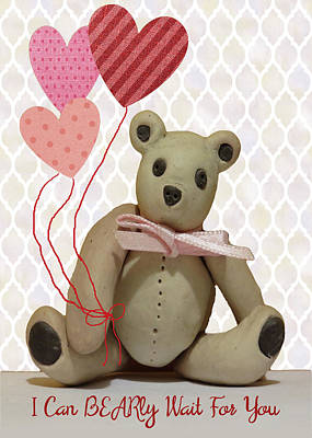 Mixed Media - Bear For Your Valentine by Rosalie Scanlon