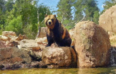 Painting - Bear by Gary Grayson