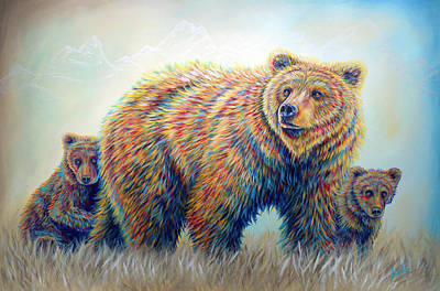 Painting - Bear Heaven by Teshia Art