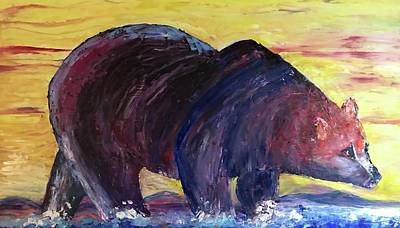 Bear Hot Summer  Art Print