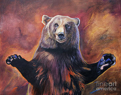 Painting - Bear Hugs by J W Baker