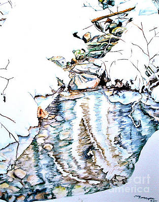 Painting - Bear Image Of Snow Creek by Tracy Rose Moyers
