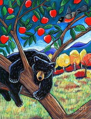 Bear In The Apple Tree Art Print by Harriet Peck Taylor