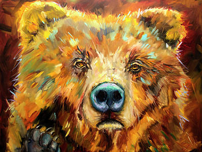 Painting - Bear In The Window by Diane Whitehead
