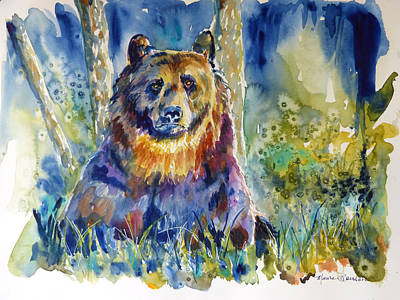 Painting - Bear In The Woods 2 by P Maure Bausch