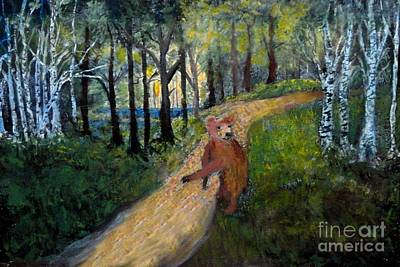 Painting - Bear In The Woods by Anne Sands