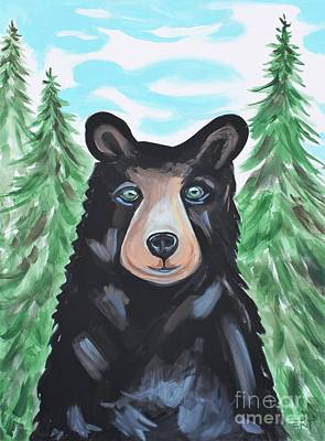 Painting - Bear In The Woods by Elizabeth Robinette Tyndall