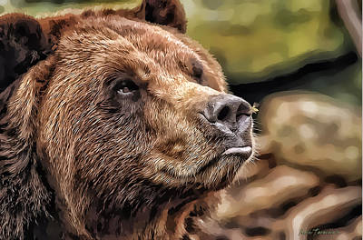 Bear Kiss Art Print by Kathy Tarochione