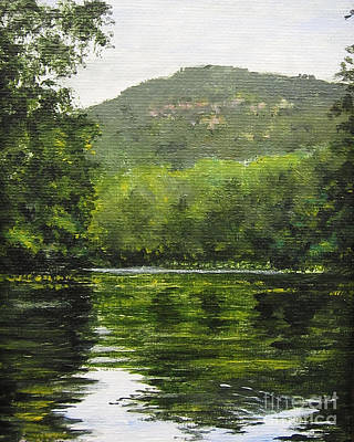 Painting - Bear Lake by Anne Marie Brown