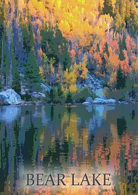 Digital Art - Bear Lake Colorado Poster by Dan Sproul